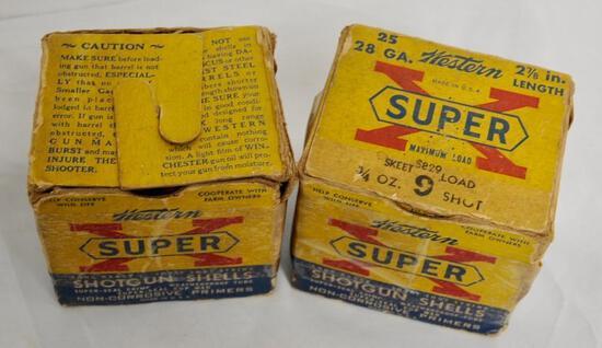 Western Vintage Super-X 28 Ga. 2 Boxes