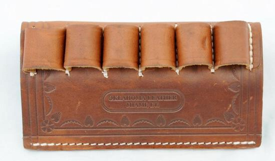 Oklahoma Leather belt 12 ga. shell holder