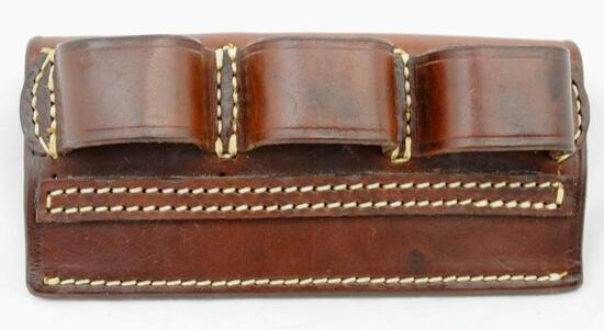 K leather belt 12 ga. shell holder
