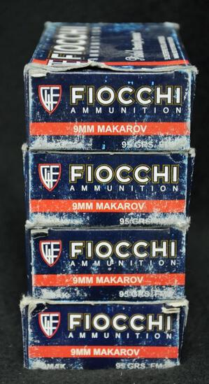 Fiocchi 9mm Makarov 95 Gr. FMJ (4 boxes) Not 9mm Luger