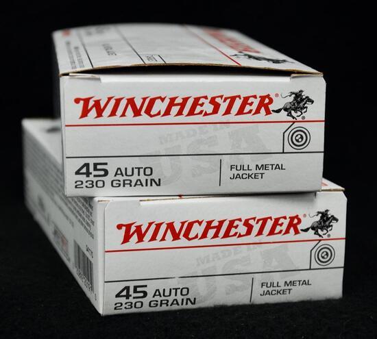 Winchester 45 Auto 230 grain (2 boxes)