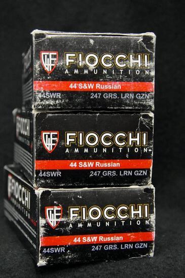 Fiocchi 44 S&W Russian 247 Gr. LRN (3 boxes)