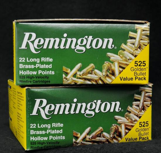 Remington 22 Long Rifle 36 Gr. HP (2 boxes of 525 Rounds)