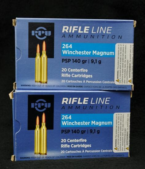 PPU 264 Win Mag PSP 140 Gr. SP (2 boxes)