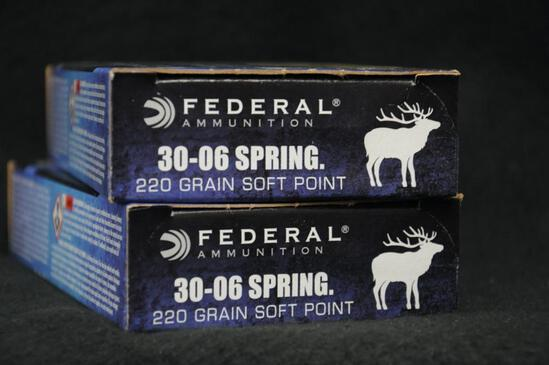 Federal 30-06 Springfield 220 grain SP (2 boxes)