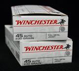 Winchester 45 Auto 230 grain FMJ (2 boxes)