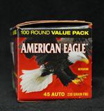 American Eagle 45 Auto 230 grain FMJ (100 round pack)