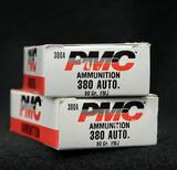 PMC 380 Auto 90 grain FMJ (2 boxes)