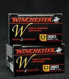 Winchester 380 Auto 95 Gr. JHP (2 boxes)