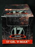 Hornady 17 HMR 17 Gr. V-Max 500 Rounds