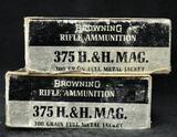 Browning 375 H&H Mag 300 grain FMJ (2 boxes)