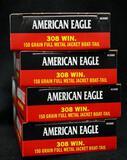 American Eagle 308 Win 150 grain FMJ (4 boxes)