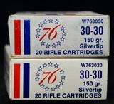 Winchester Bicentennial 30-30 150 grain Silvertip (2 boxes)