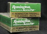 Remington 17 Remington Fireball 20 grain (2 boxes)