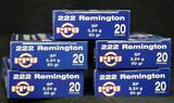PPU 222 Remington 50 Gr. SP (5 boxes)