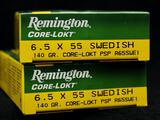 Remington Core-Lokt 6.5x55 Swedish 140 Gr. (2 boxes)