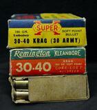 Western and Remington 30-40 Krag (3 boxes)