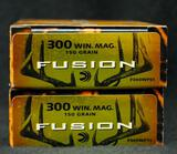 Federal Fusion 300 Win Mag 150 GR. SP (2 boxes)