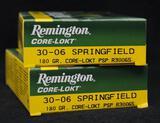 Remington Core-Lokt 30-06 Springfield 180 grain (2 boxes)