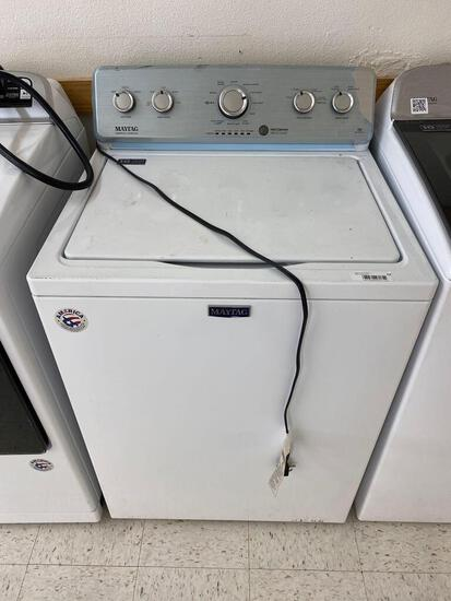 Maytag 4.2-cu ft High-Efficiency Top-Load Washer with Deep Water Wash Option - White