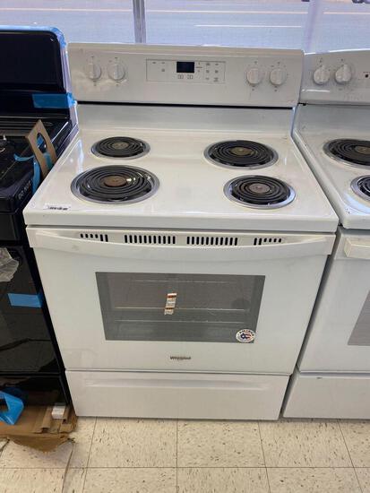 Whirlpool 4.8-cu ft Freestanding Electric Range with Keep Warm Setting - White