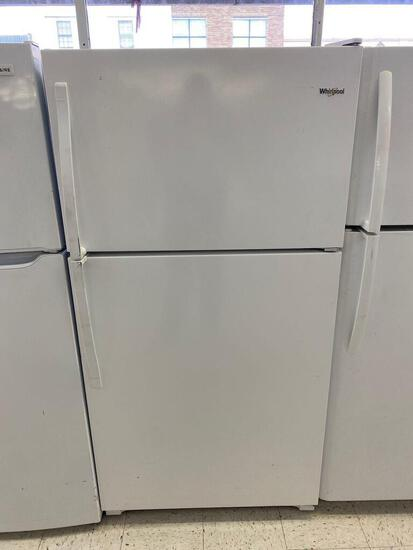 Whirlpool 20.5-cu ft Top-Freezer Refrigerator with Optional Ice Maker Kit- White