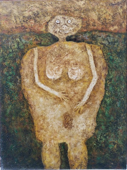 Jean Dubuffet - Oil On Canvas Painting