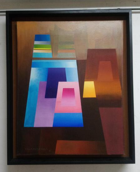 Master Painter Milner Cajahuaringa Surrealist Master / Oil Canvas