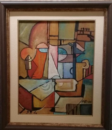 Joaquin Torres-garcia - Antique Oil Painting Signed