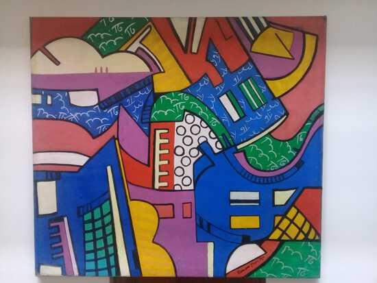 Art Pop Painting Romero Britto / Signed