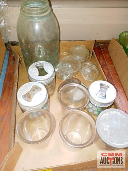 Mason jars and marbles