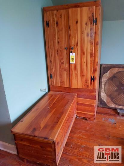 """Wood wardrobe no key (28.5""""w X 21""""d X 63.25""""h)"""