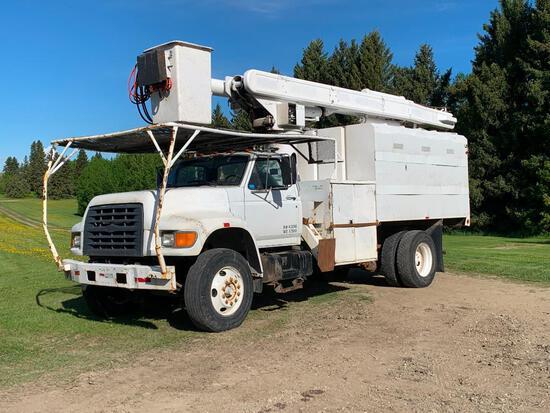 1999 Ford Arborist Boom Chipper Truck