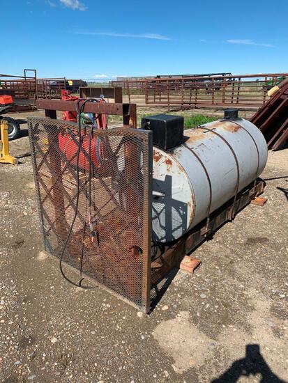 Skidded 250 Gallon Westeel fuel tank