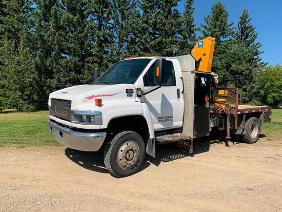 2005 GMC C5500 Flatdeck Picker truck