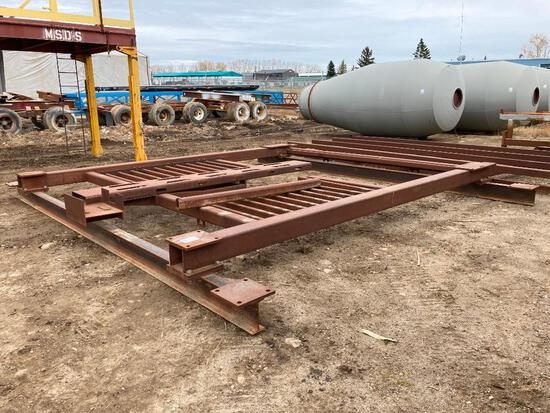 "18' W x 196"" L Steel I Beam and Square Tubing Skid"