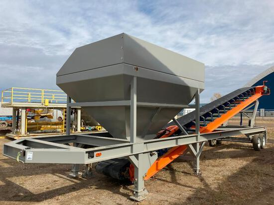Unused Axium 47' T/A Conveyor w. Hopper