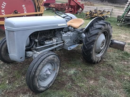 """Ferguson T30 Tractor W/72"""" Landpride Back Blade"""