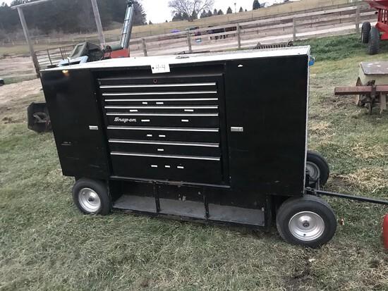 Large Snap On Tool Box on Wheels
