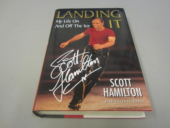 Scott Hamilton Signed Autographed Book Landing It
