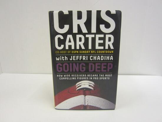 Cris Carter Autographed Book Going Deep