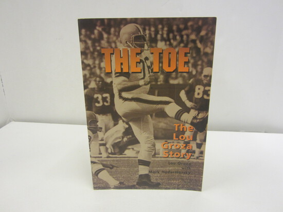 Lou Groza Signed Autographed Book