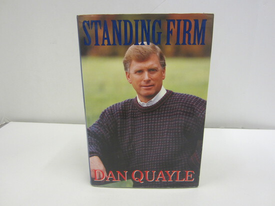 Dan Quayle Signed Autographed Book Standing Firm