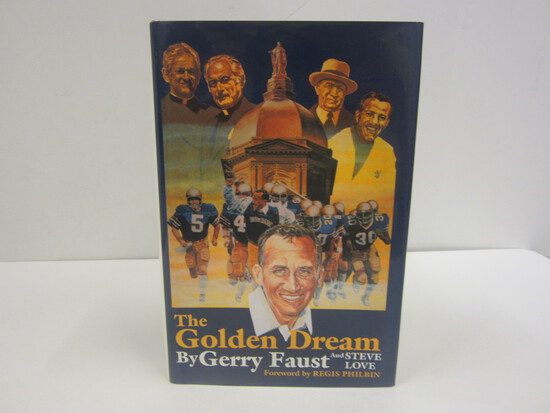 Gerry Faust Signed Autographed Book The Golden Dream