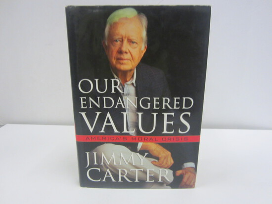 Jimmy Carter Signed Autographed Our Endangered Values Book