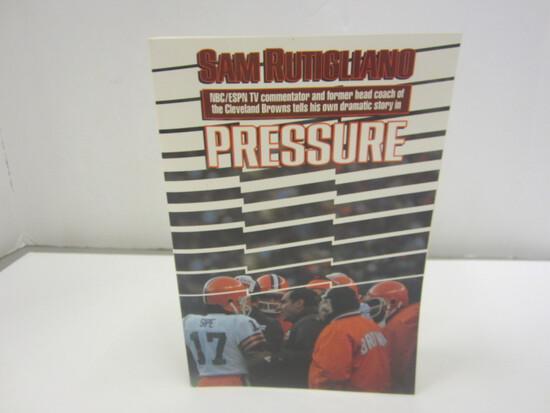 Sam Rutigliano Signed Autographed Book Pressure