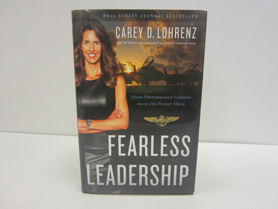 Carey D Lohrenz Signed Autographed Book Fearless Leadership