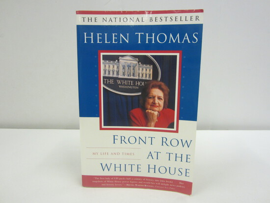 Helen Thomas Signed Autographed Book Front Row At the White House