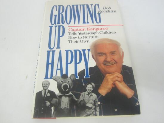 "BOB KEESHAN ""CAPTAIN KANGAROO"" SIGNED AUTOGRAPH BOOK GROWING UP HAPPY"