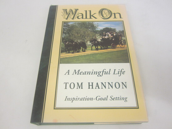 TOM HANNON SIGNED AUTOGRAPH BOOK WALK ON